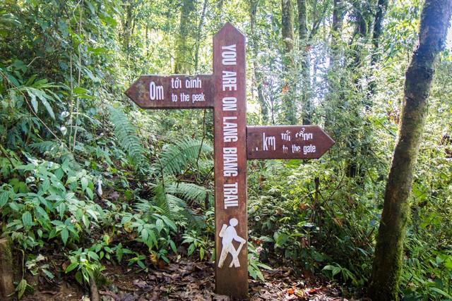 Bảng chỉ dẫn leo núi Lang Biang