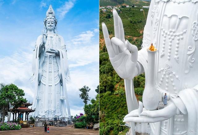 Kwan Yin statue at Linh An pagoda