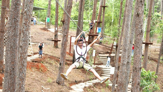Try the zip line at low height